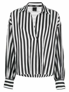 Pinko long sleeve striped pattern shirt - Black