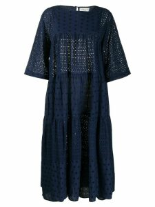 YMC broderie anglaise maxi dress - Blue