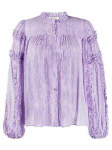 Ulla Johnson Mari crinkled blouse - PURPLE