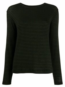 Vince stripe print knit top - Black