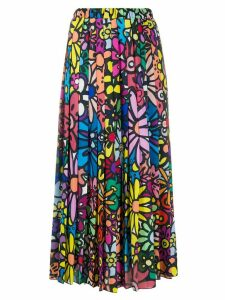 Ultràchic floral print pleated skirt - Blue
