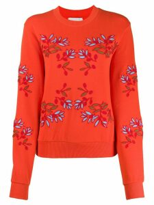 Henrik Vibskov flower embroidered sweatshirt