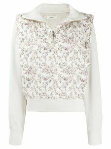 Isabel Marant Étoile Naira floral-print sweatshirt - NEUTRALS