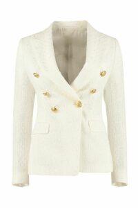 Tagliatore 0205 Alicya Tweed Double Breasted Blazer