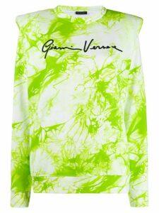 Versace tie-dye logo jumper - White
