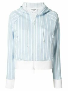 Thom Browne striped zip-up hoodie - Blue