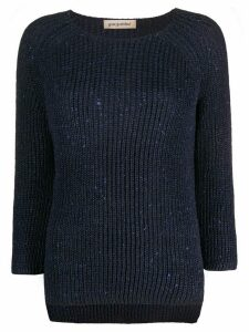Gentry Portofino metallic knit jumper - Blue