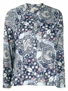 Isabel Marant Étoile long sleeve floral print shirt - Blue