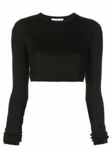 Tibi fine knit bolero jumper - Black