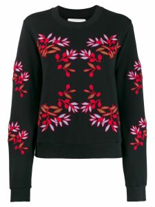 Henrik Vibskov embroidered flower sweatshirt - Black