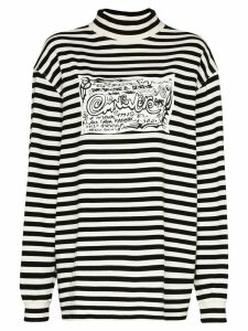 Eytys Compton striped oversized top - Black