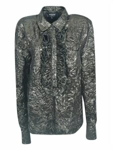 Rochas Metallic Ruffled Shirt