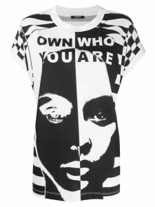 Balmain slogan print T-shirt - White