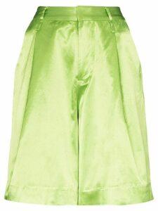 Staud Noah wide-leg shorts - Green