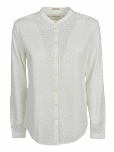 Massimo Alba Perforated Pattern Shirt