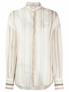 Brunello Cucinelli striped shirt - White