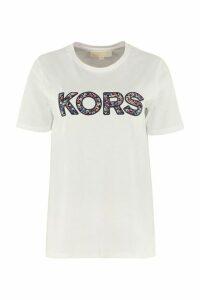 MICHAEL Michael Kors Logo Patch Cotton T-shirt