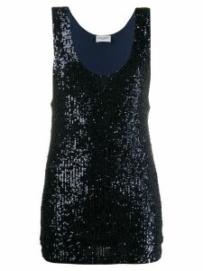 Saint Laurent Dégradé sequin tank top - Blue