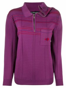 Y/Project ribbed asymmetric neck jumper - PURPLE