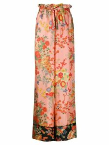Palm Angels Blooming pajama-style trousers - PINK