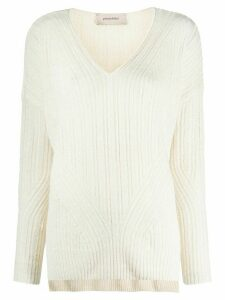 Gentry Portofino ribbed knit jumper - NEUTRALS