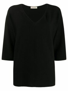 Gentry Portofino v-neck jumper - Black