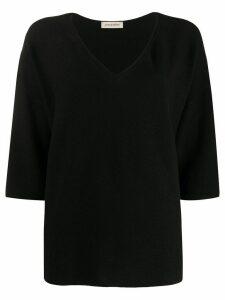 Gentry Portofino v-neck jumper - Black