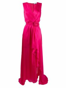 Blumarine bow detail wrap-style dress - PINK