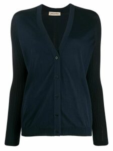 Gentry Portofino ribbed v-neck cardigan - Blue