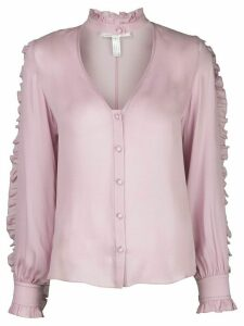 Fleur Du Mal ruffle-trimmed silk blouse - PINK