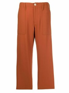 Jejia cropped straight leg trousers - ORANGE