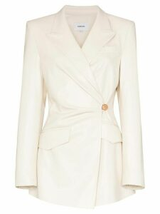 Nanushka Blair side button blazer - NEUTRALS