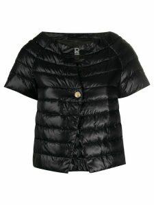 Herno cropped short sleeve puffa jacket - Black