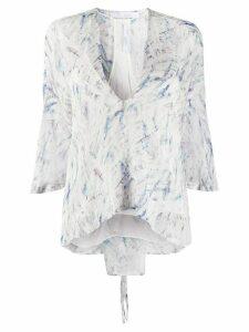 IRO abstract print silk blouse - White