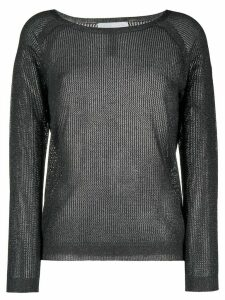 Fabiana Filippi metallized sheer jumper - Grey