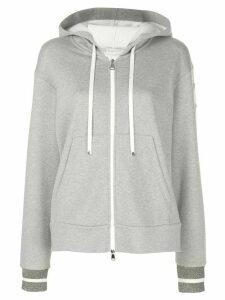 Moncler zip-through hooded jacket - Grey