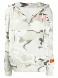 Heron Preston camouflage zipped hoodie - PINK