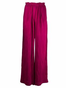 Forte Forte loose-fit trousers - PURPLE