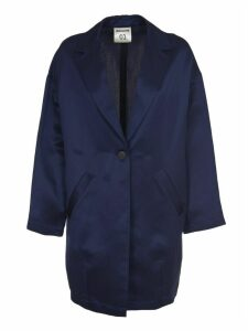 SEMICOUTURE Blue Satin Jacket