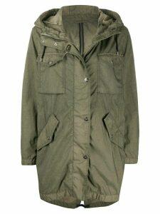 Fay hooded parka coat - Green