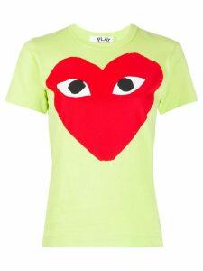Comme Des Garçons Play heart print round neck T-shirt - Green