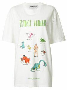 Ground Zero Extinct Animals oversized T-shirt - White