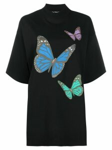 Palm Angels butterfly print T-shirt - Black