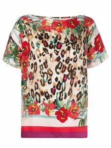 LIU JO multi-print blouse - PINK