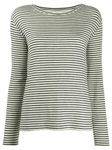 Vince stripe print T-shirt - Black