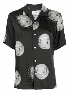Kirin short-sleeved discoball-print shirt - Black