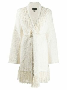 Alanui fringed bouclé pool party cardigan - NEUTRALS