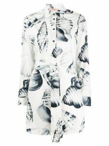 Twin-Set long sleeve shell print shirt - White