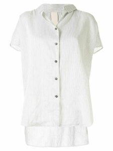 Forme D'expression stripe-print loose-fit shirt - White