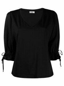 LIU JO tie-cuffs blouse - Black